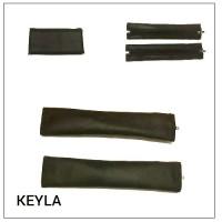 Калъф комплект за дръжка на количка от две части - еко кожа  KEYLA ZIP MAXI Plus