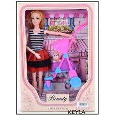 Кукла с количка и кученце