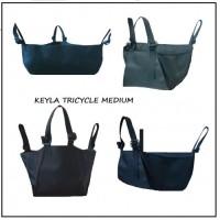 Универсален багажник за детска количка тип триколка KEYLA TRICYCLE MEDIUM с комбиниращ се три или четири точков захват