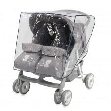 Дъждобран за детска количка за близнаци / количка дуо