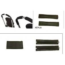 Калъф комплект за дръжка на количка от две части - еко кожа  KEYLA ZIP