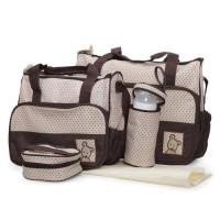 Комплект чанти за аксесоари Stella кафяв цвят
