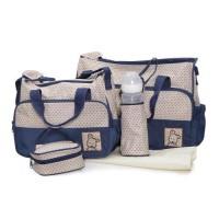 Комплект чанти за аксесоари Stella син   цвят