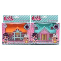 Малка къща за кукли  с веранда